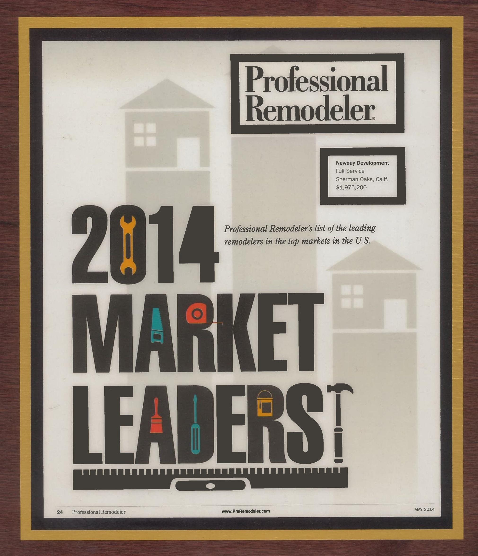 Professional Remodeler Market Leader 2014