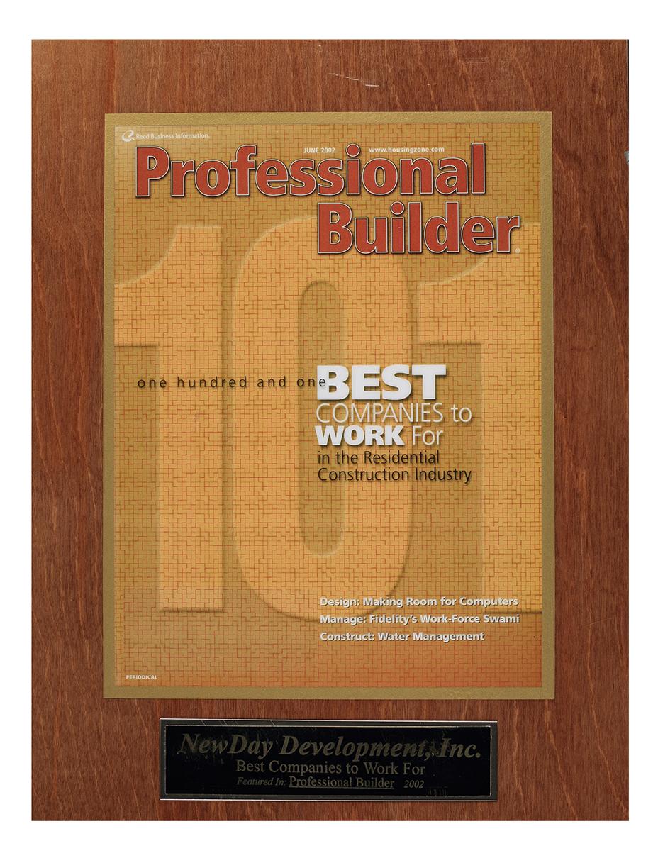 Professional Builder Best 101 Firms