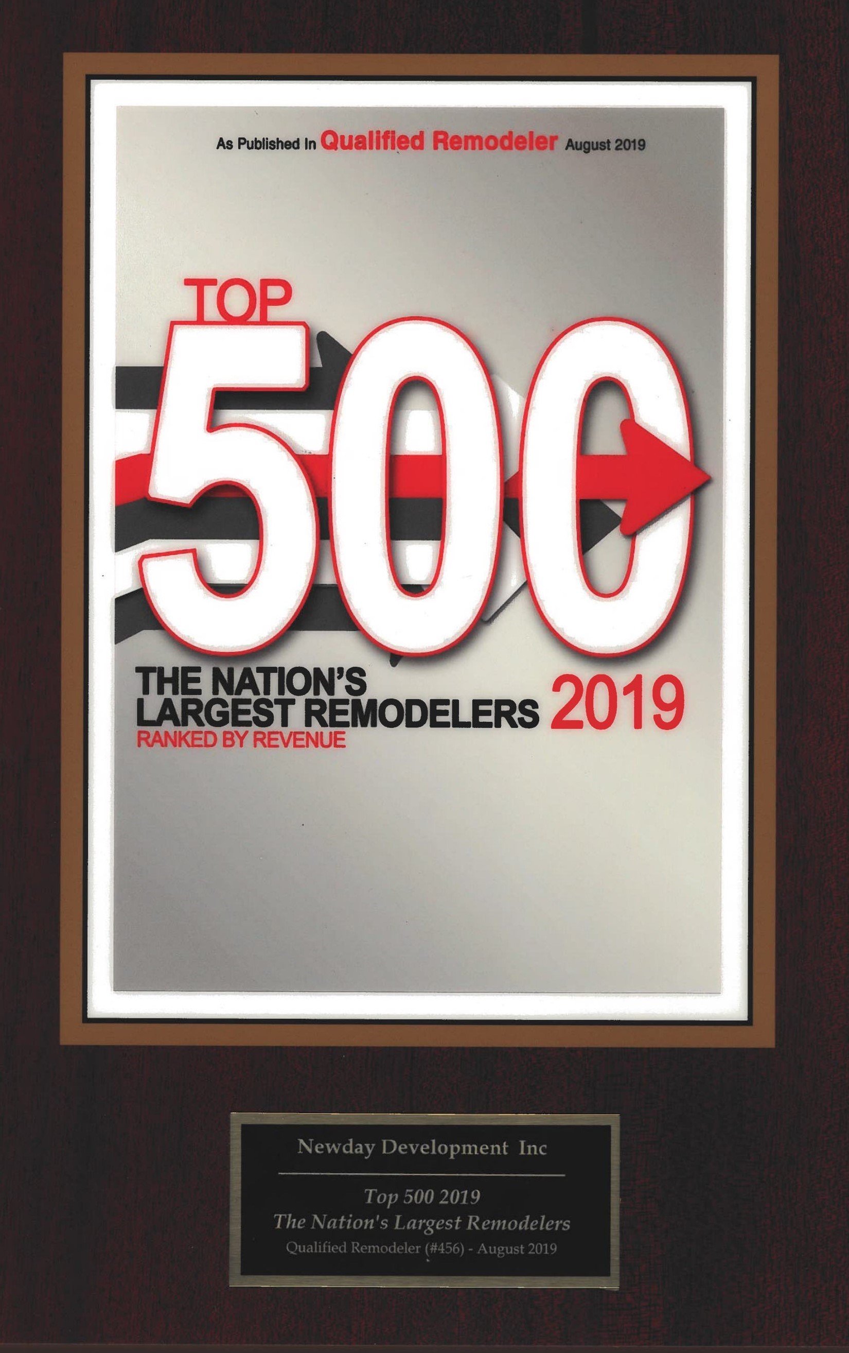 Qualified Remodeler Top 500 firms –